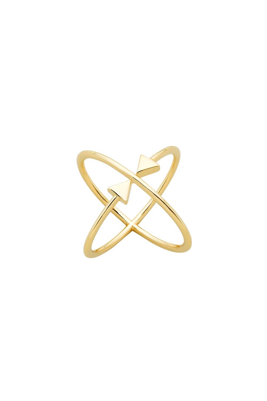Atomic Arrows Ring Gold
