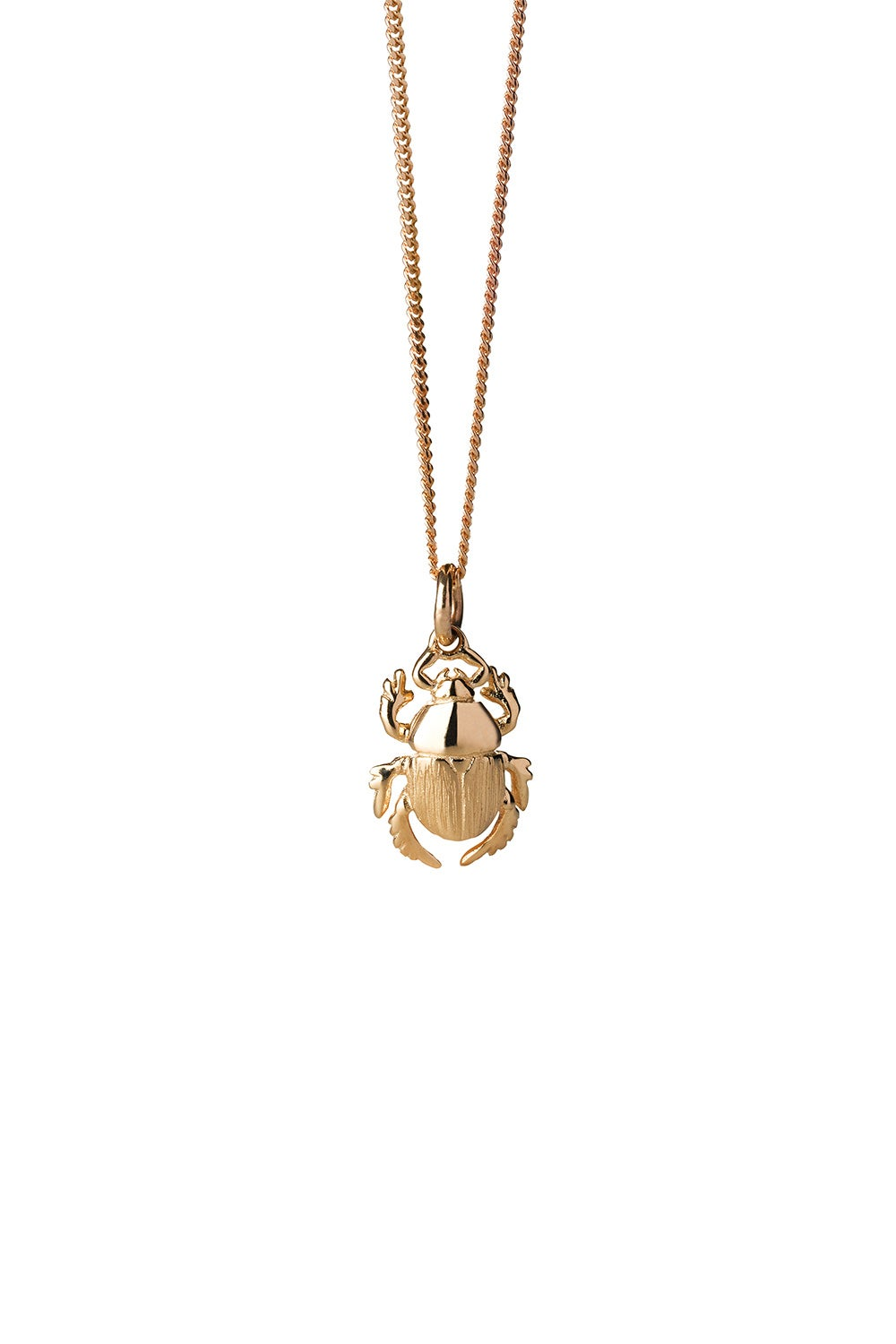Beetle Necklace Gold