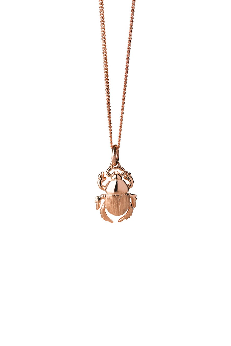 Beetle Necklace Rose Gold
