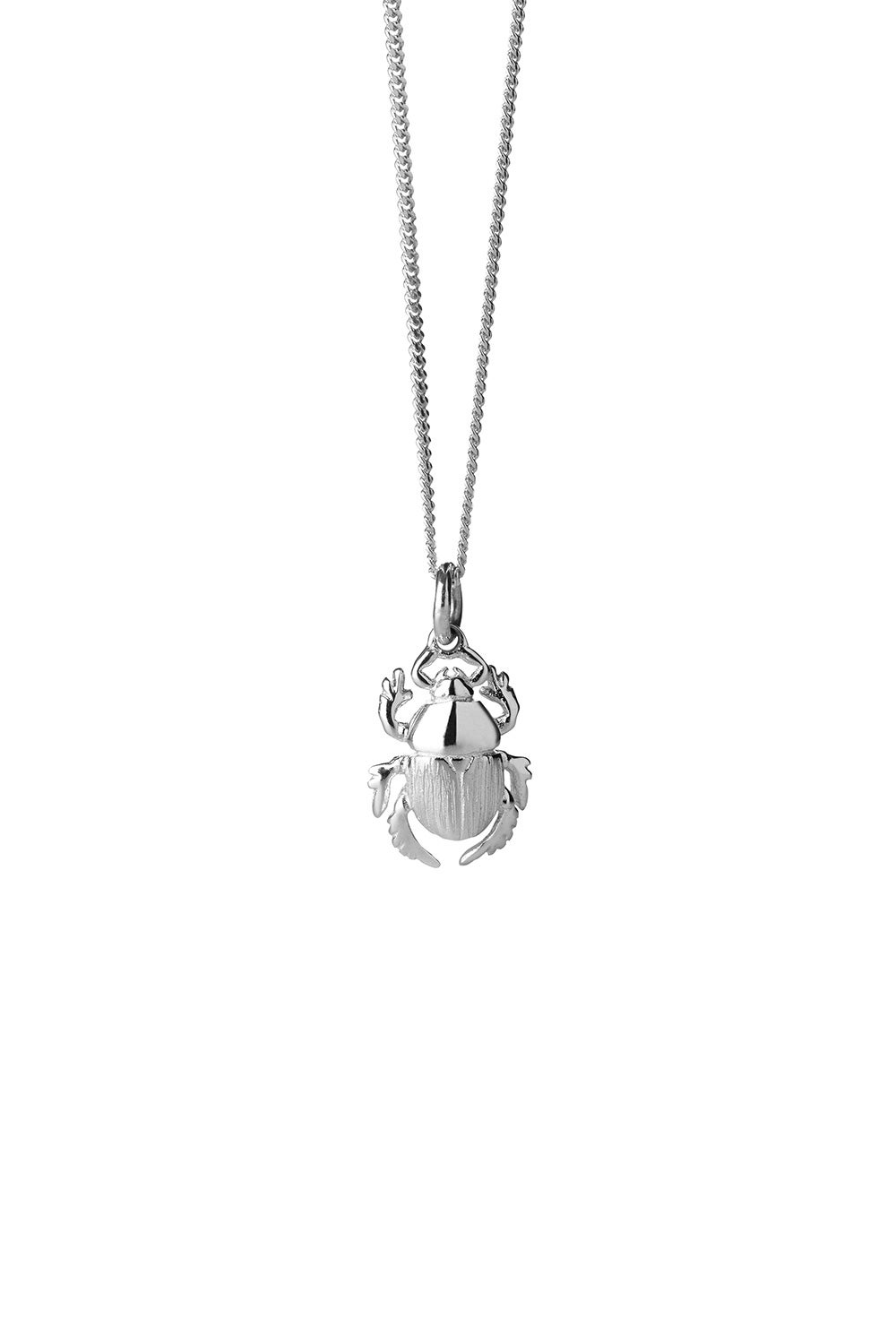 Beetle Necklace Silver
