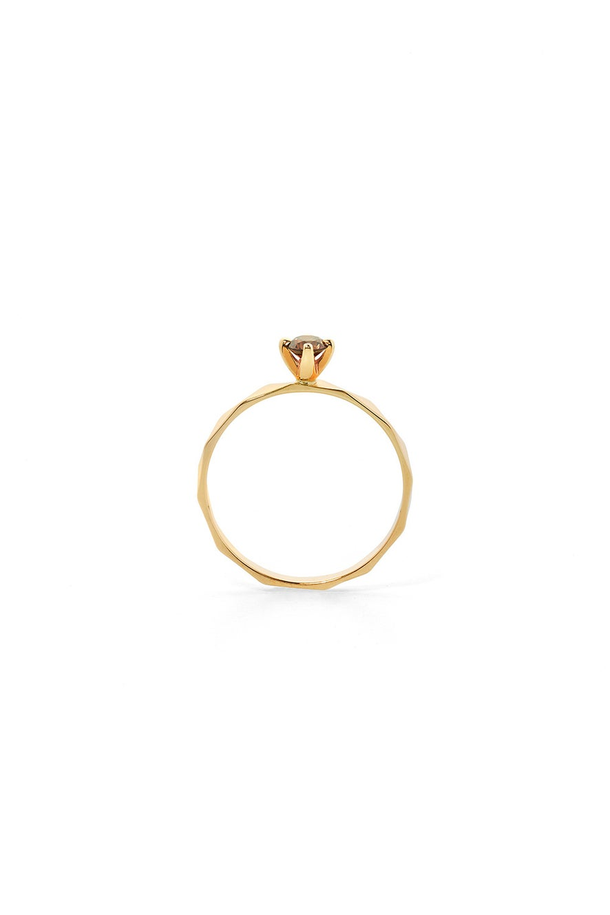 Believer Ring, Gold, Champagne Diamond