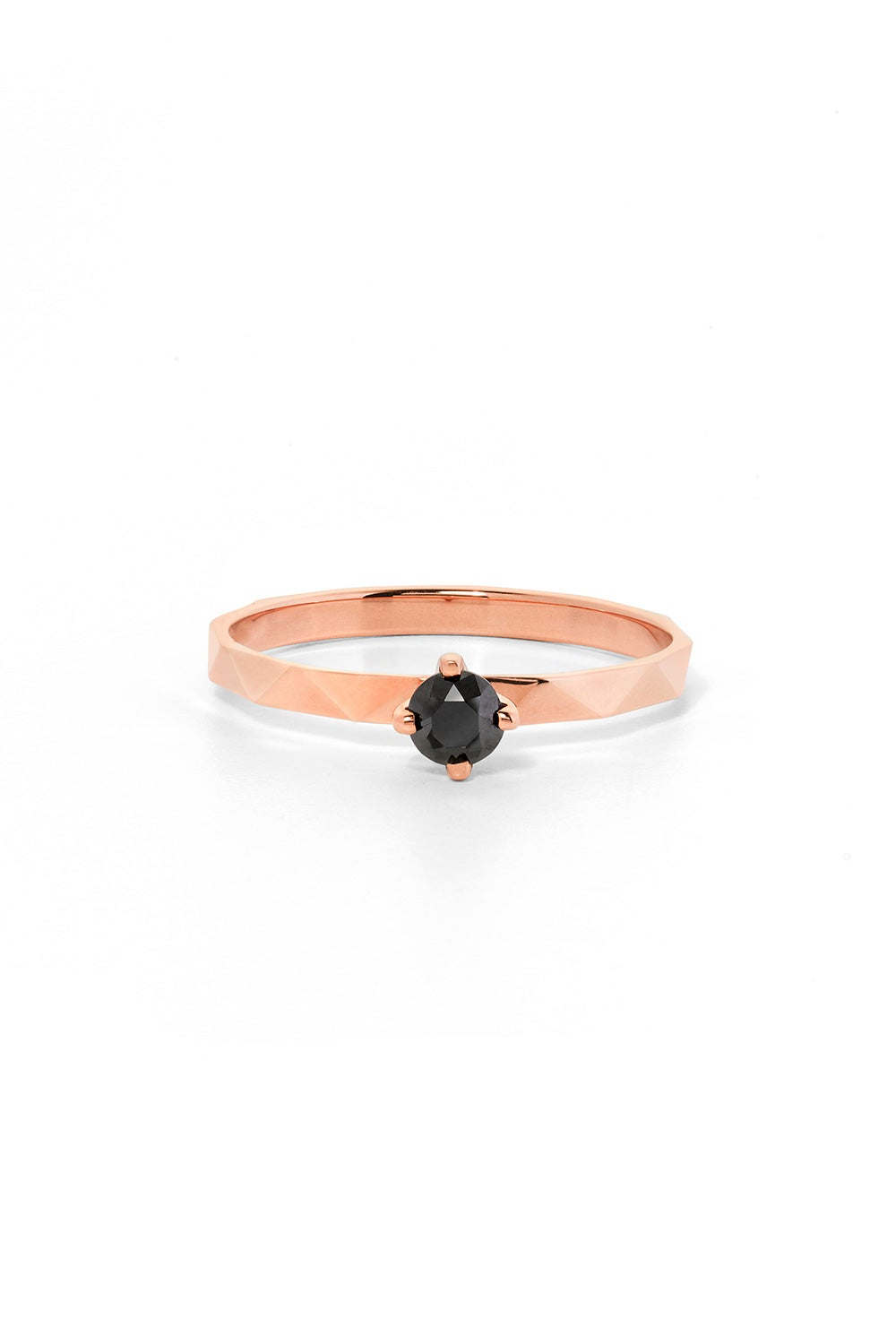 Believer Ring, Rose Gold, Black Diamond