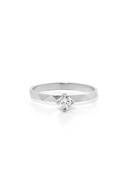 Believer Ring, White Gold, White Diamond