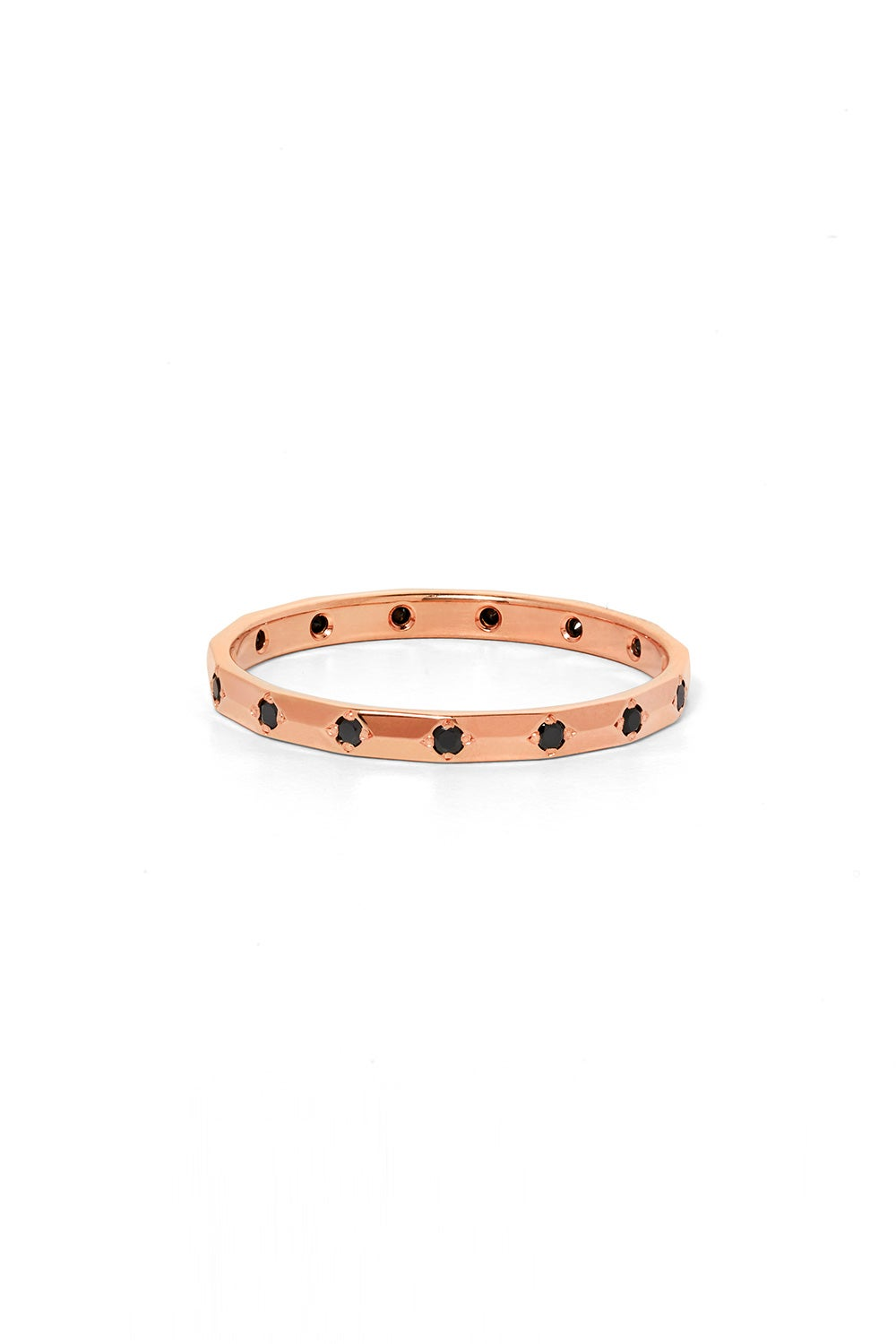 Beloved Band, Rose Gold, Black Diamond