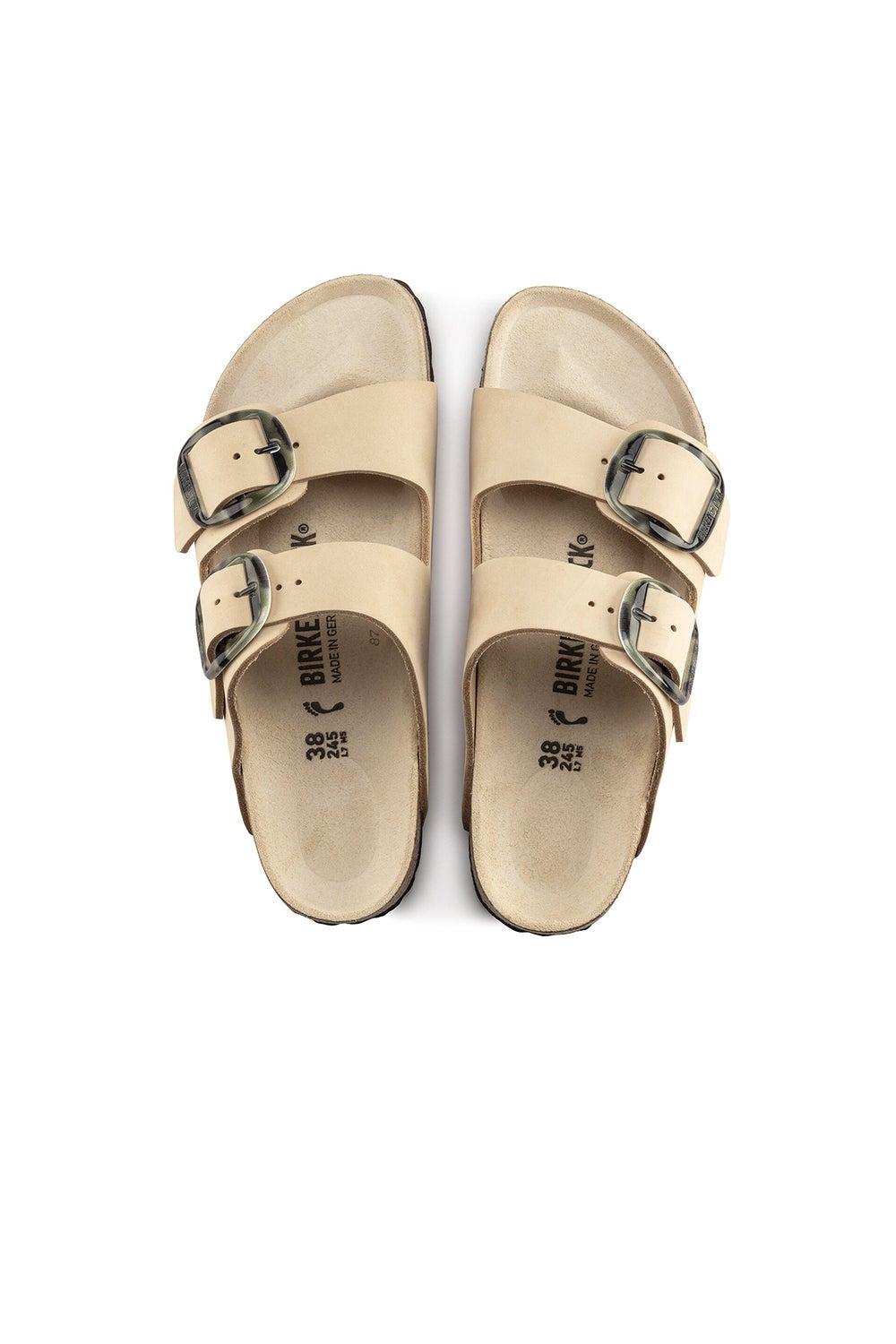 Birkenstock Arizona Big Buckle Nubuck Regular Fit Almond