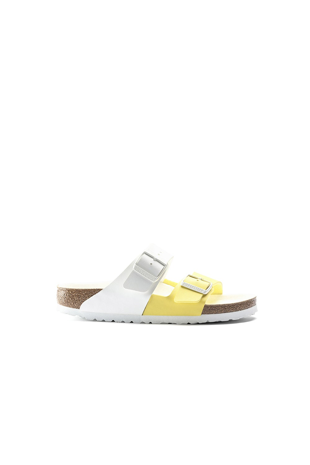Birkenstock Arizona Birko-Flor Split White/Lime Sour