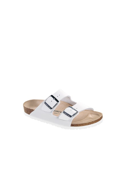 Birkenstock Arizona Smooth Leather Narrow Fit White