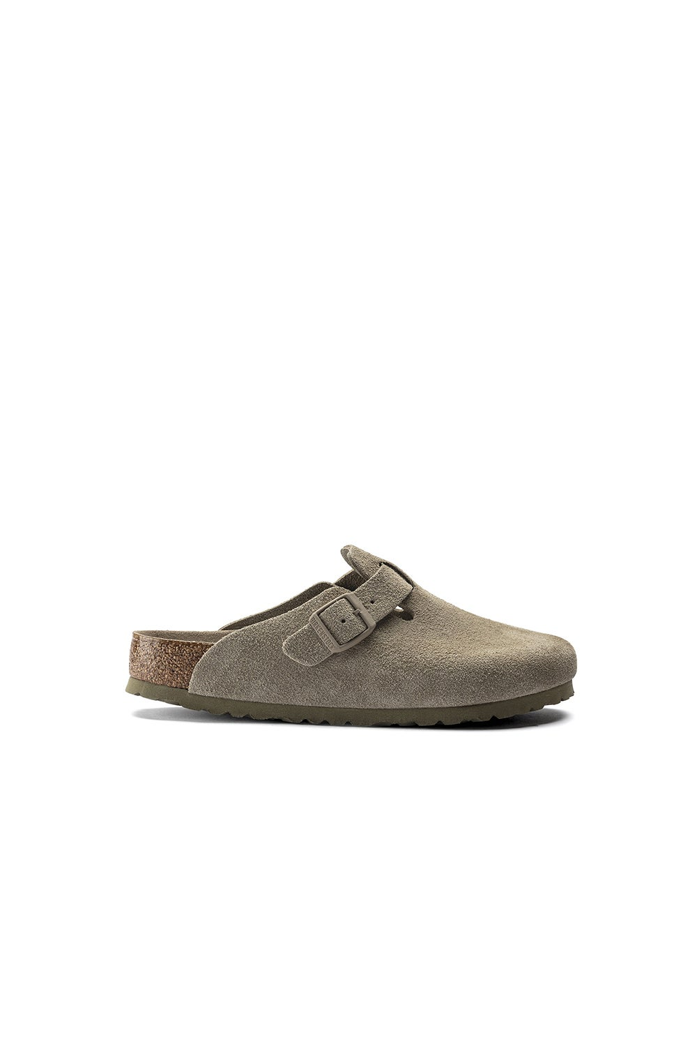 Birkenstock Boston SFB Suede Faded Khaki