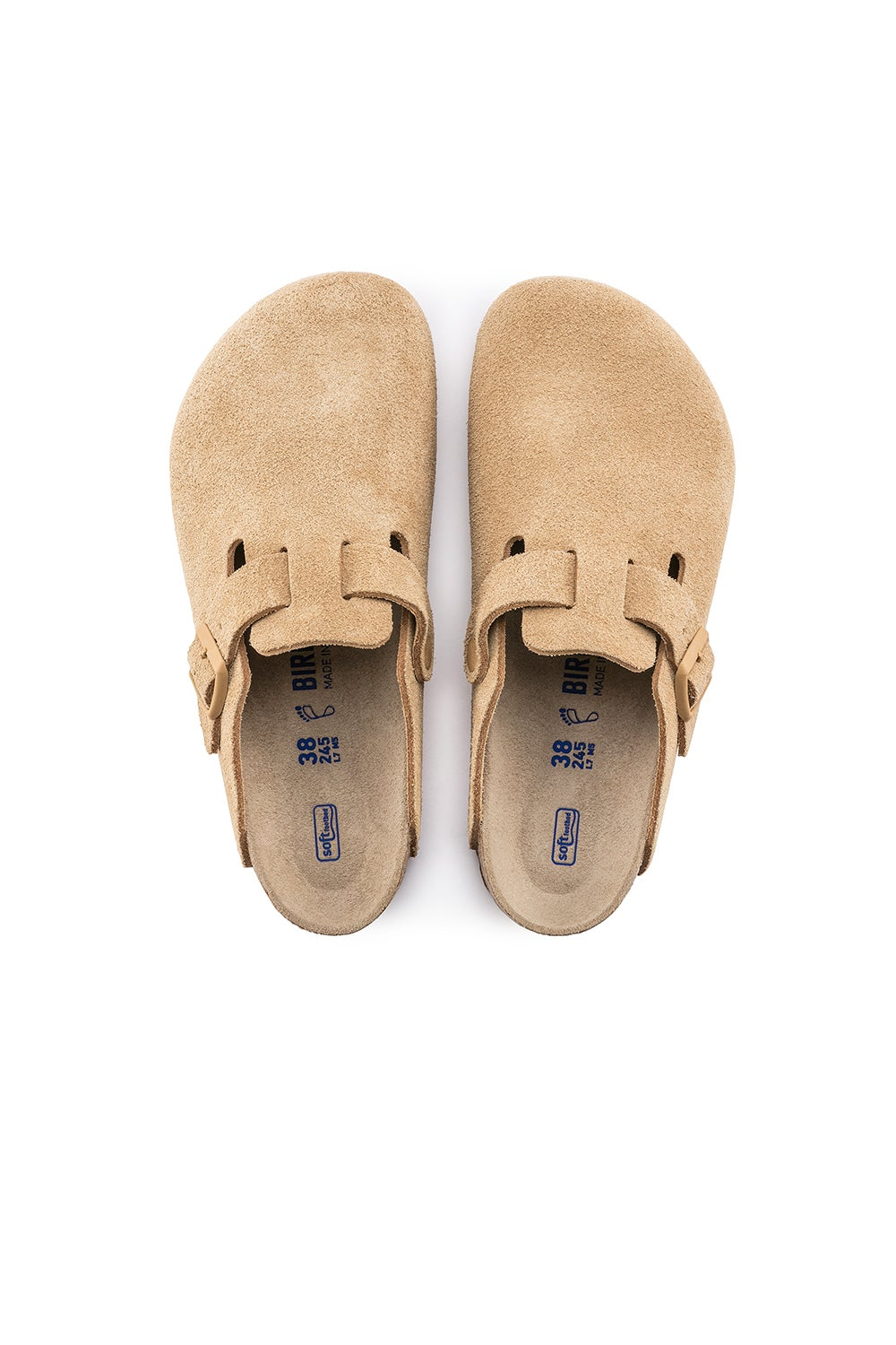 Birkenstock Boston SFB Suede Latte Cream