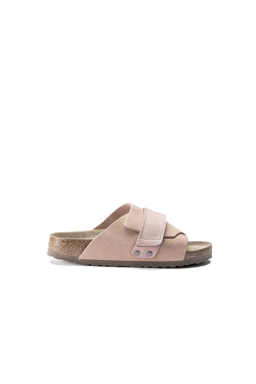 Birkenstock Kyoto SFB Suede/Leather Soft Pink