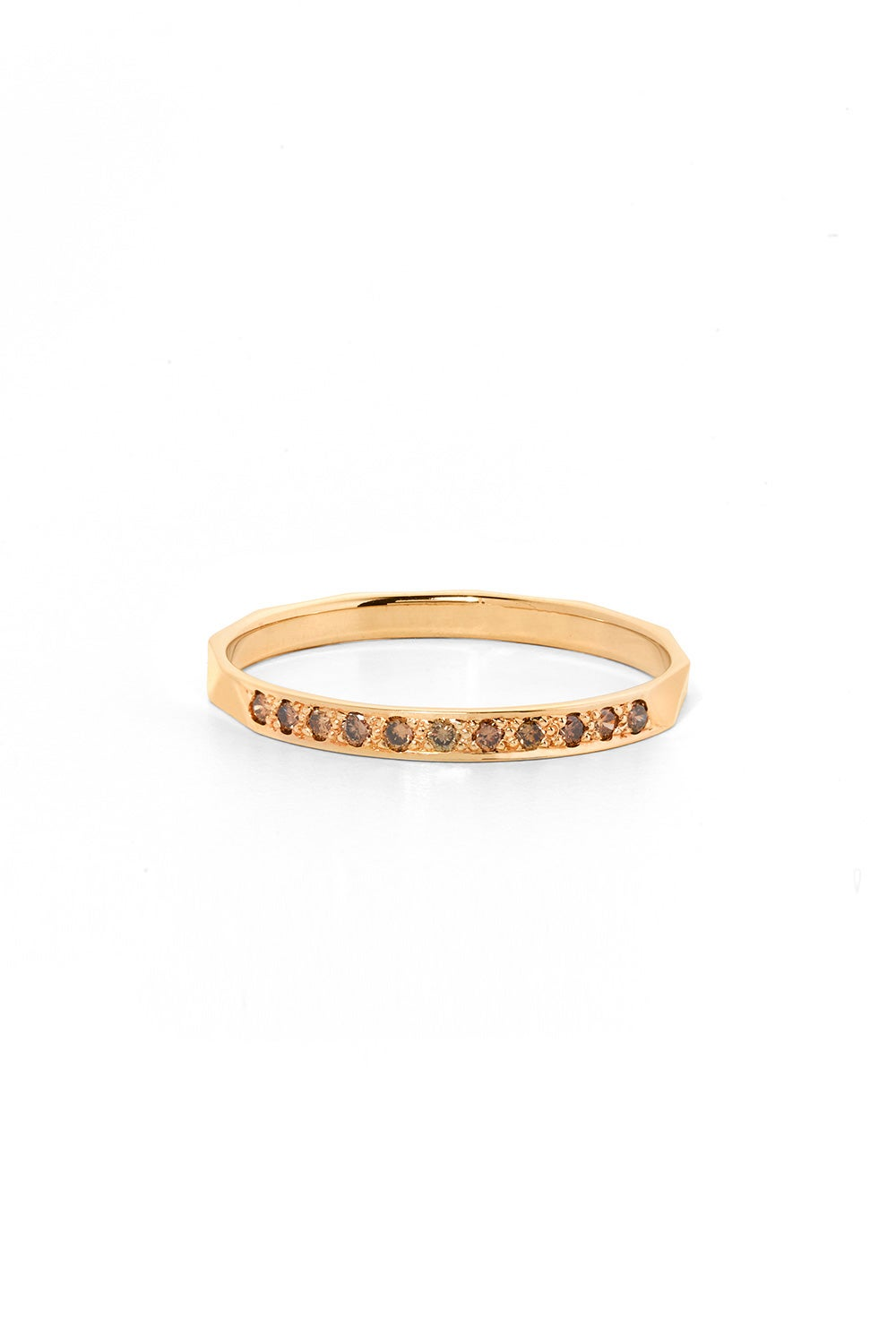 Blessing Band, Gold, Champagne Diamond