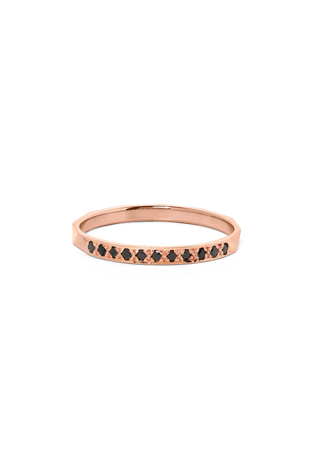 Blessing Band, Rose Gold, Black Diamond