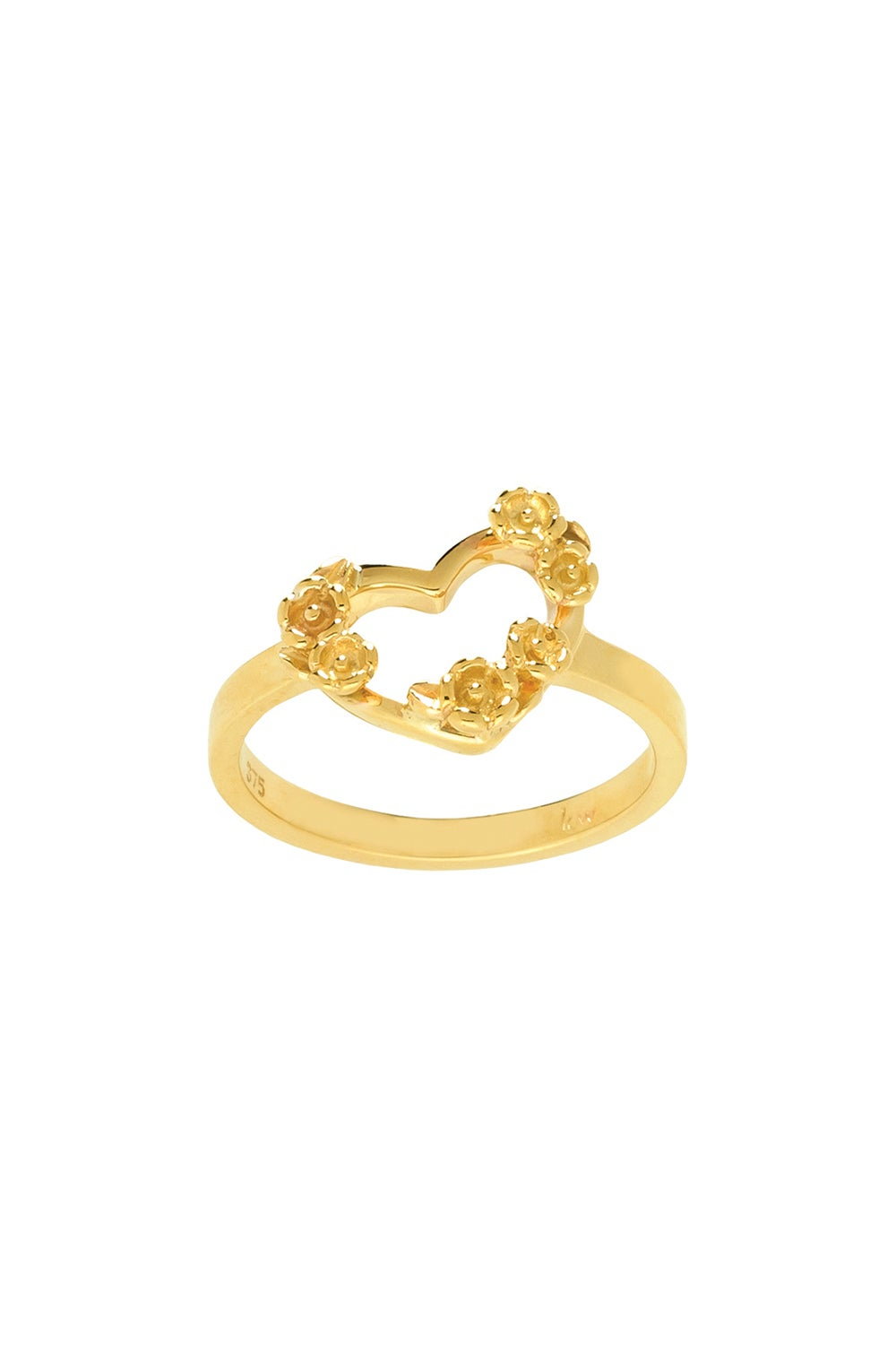 Botanical Heart Ring Gold