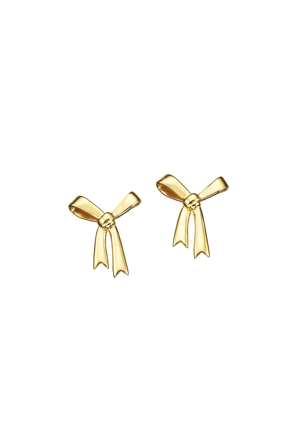 Bow Earrings Gold