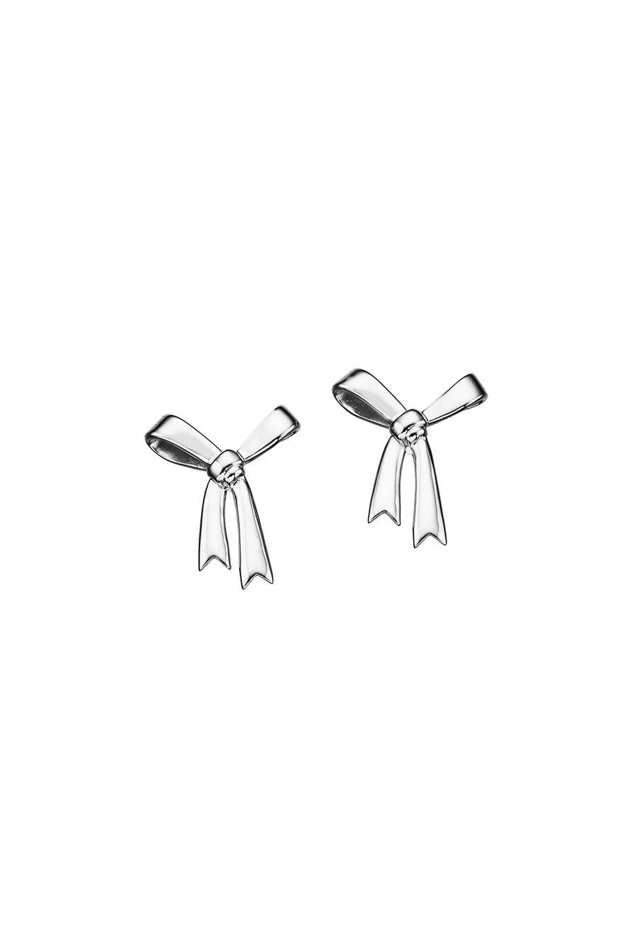 Bow Earrings Silver