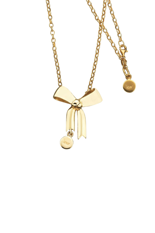 Bow Pendant Gold