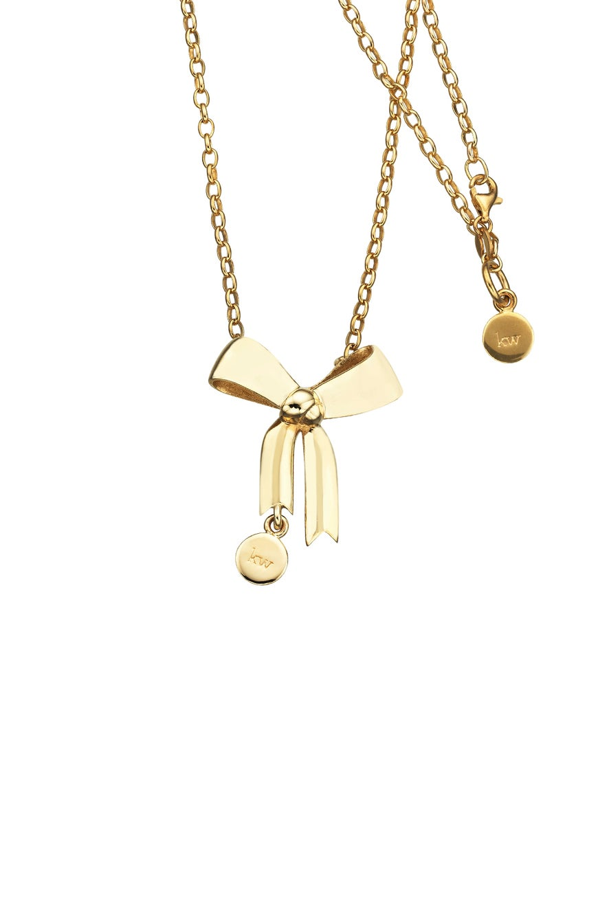 Bow Pendant Gold