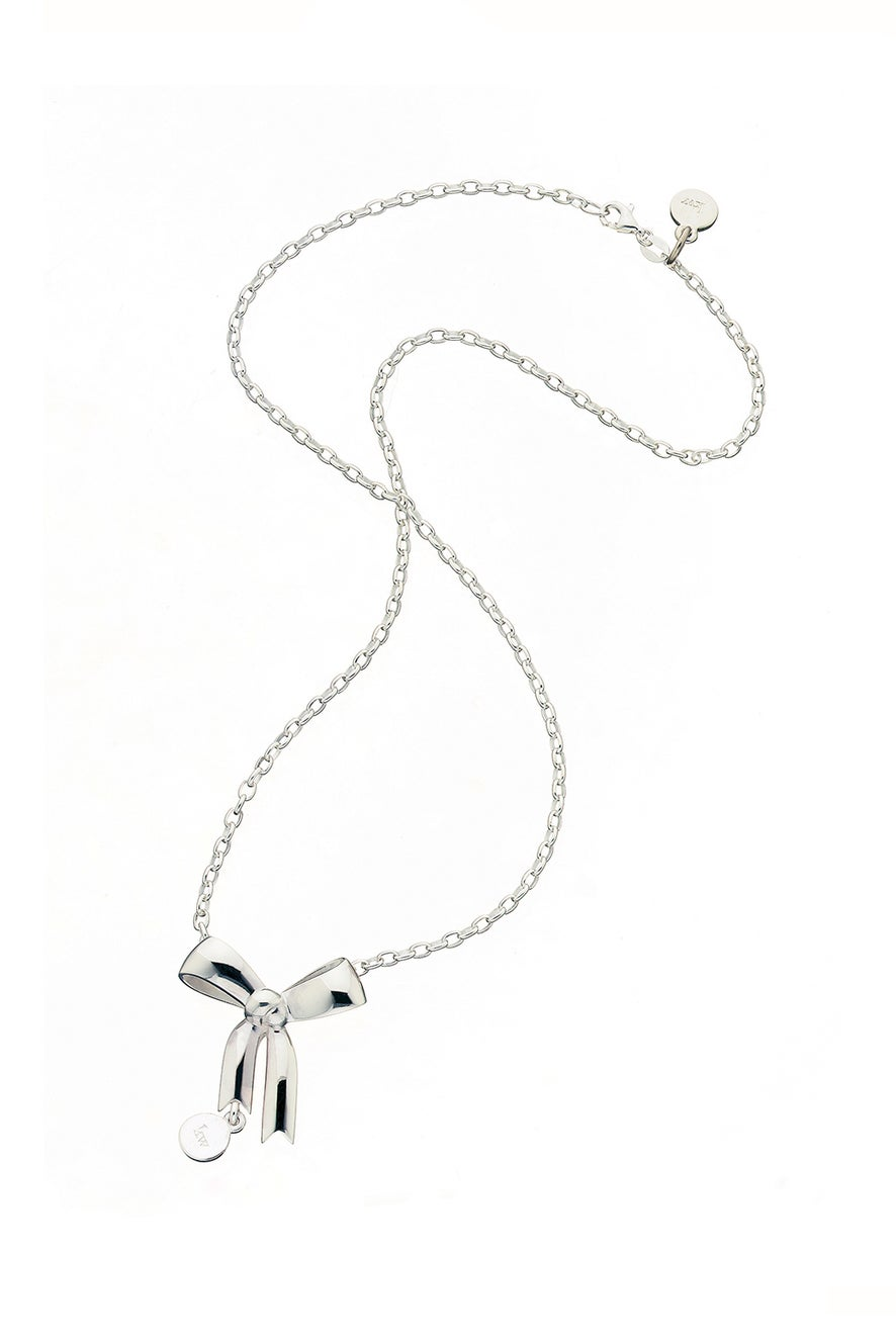 Bow Pendant Silver