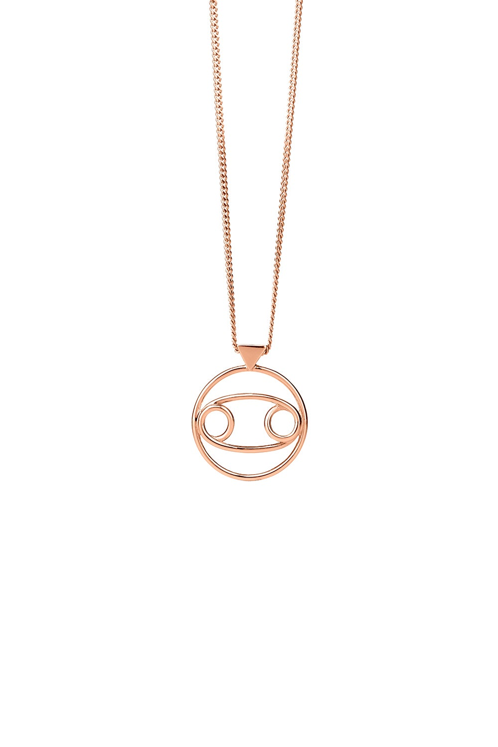 Cancer Necklace Rose Gold