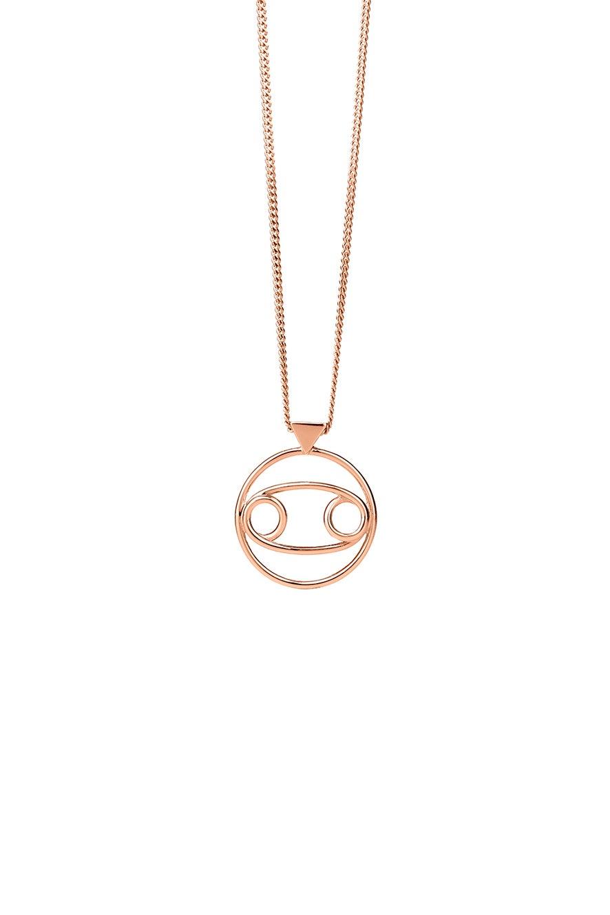 Cancer Necklace Rose Gold