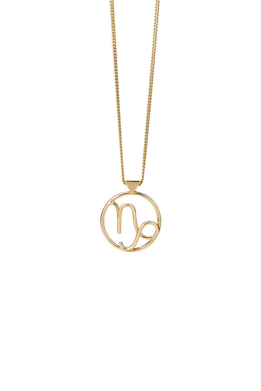 Capricorn Necklace Gold