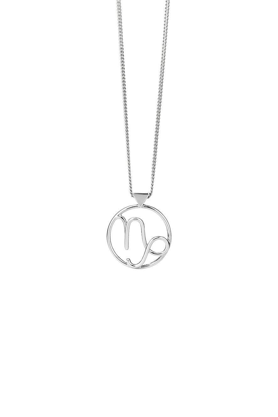 Capricorn Necklace Silver