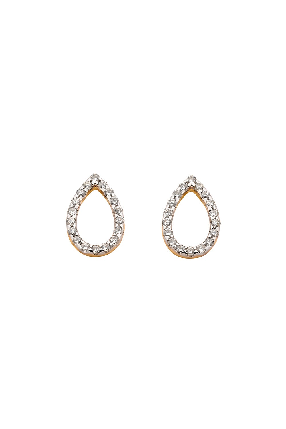 Capsule Diamond Earrings, 9ct Gold, .24ct Diamond