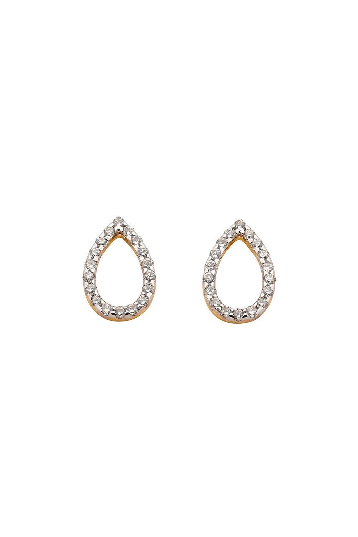 Capsule Diamond Earrings, 9ct Gold, .24ct Diamond