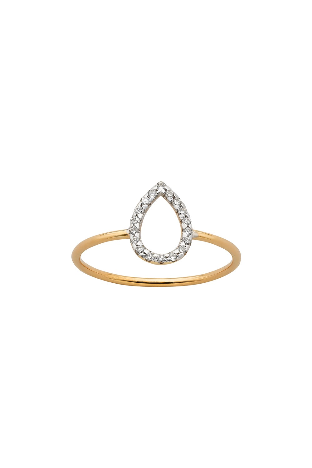 Capsule Diamond Ring, 9ct Gold, .12ct Diamond