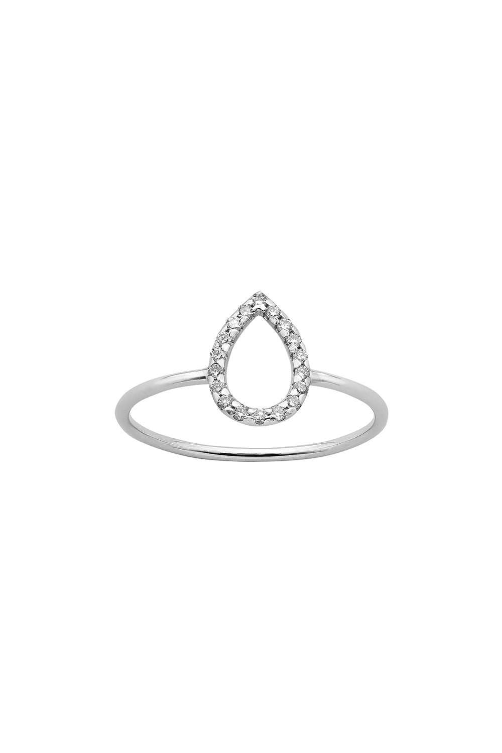Capsule Diamond Ring, 9ct White Gold, .12ct Diamond