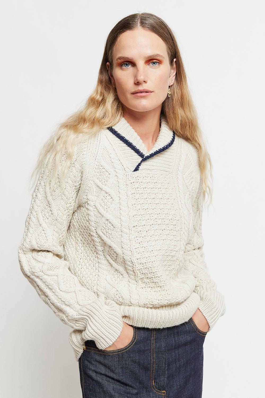 Captain's Shawl Collar Sweater