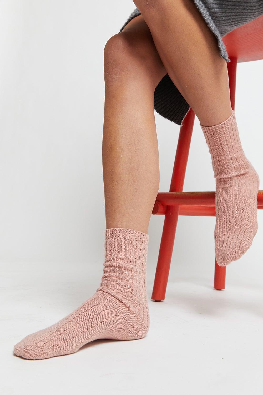 Cashmere Rib Socks