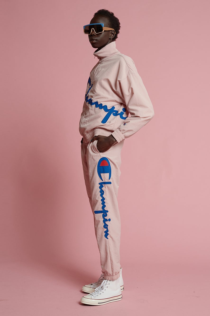 Champion Peached Track Jacket Pale Pink