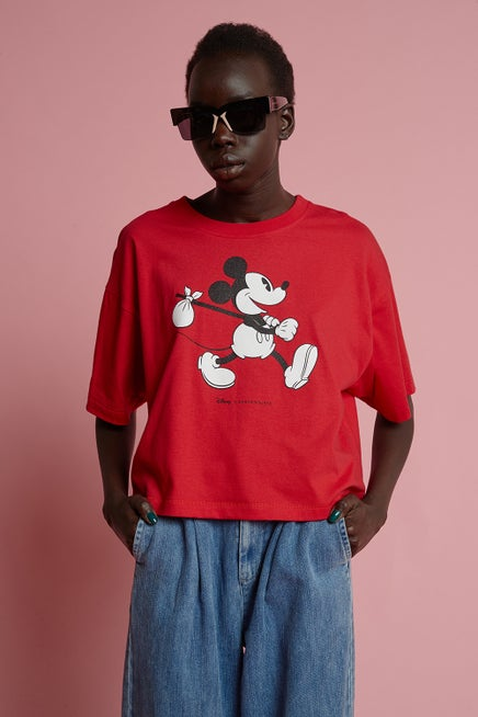 Classic Mickey Short Sleeve Cropped Tee