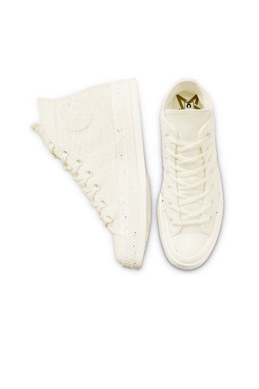 Converse Chuck 70 Mixed Recycled Hybrid Texture High Top Egret