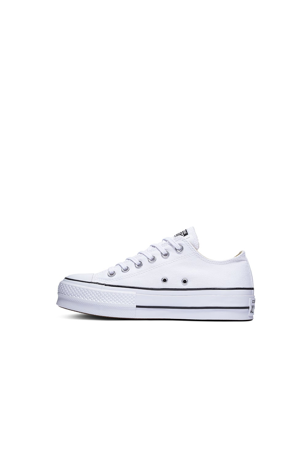 Converse Chuck Taylor All Star Canvas Lift Low Top White/Black/White