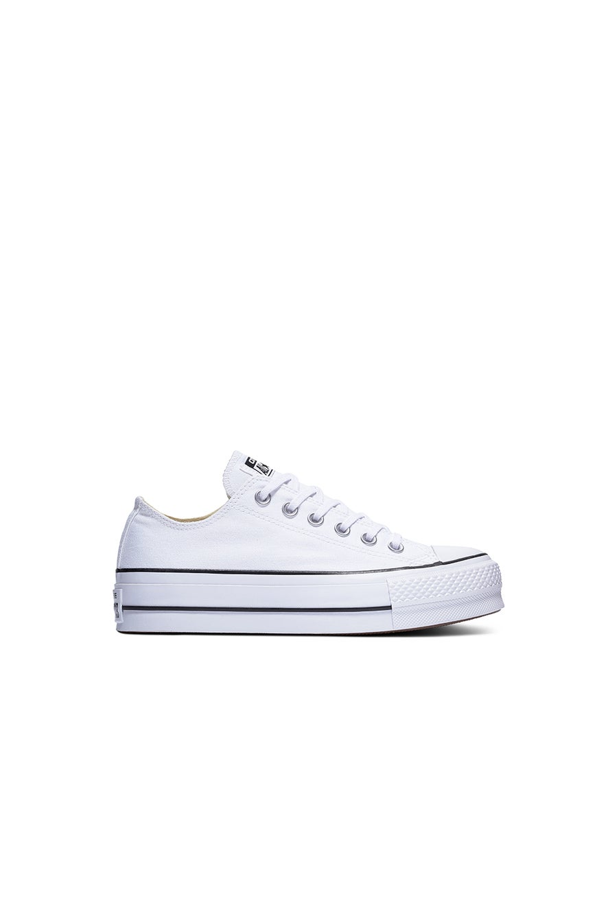 Converse Chuck Taylor All Star Canvas Lift Low Top White