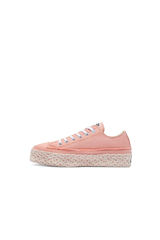 Converse Chuck Taylor All Star Espadrille Platform Low Top Pink Quartz/White/Natural Ivory