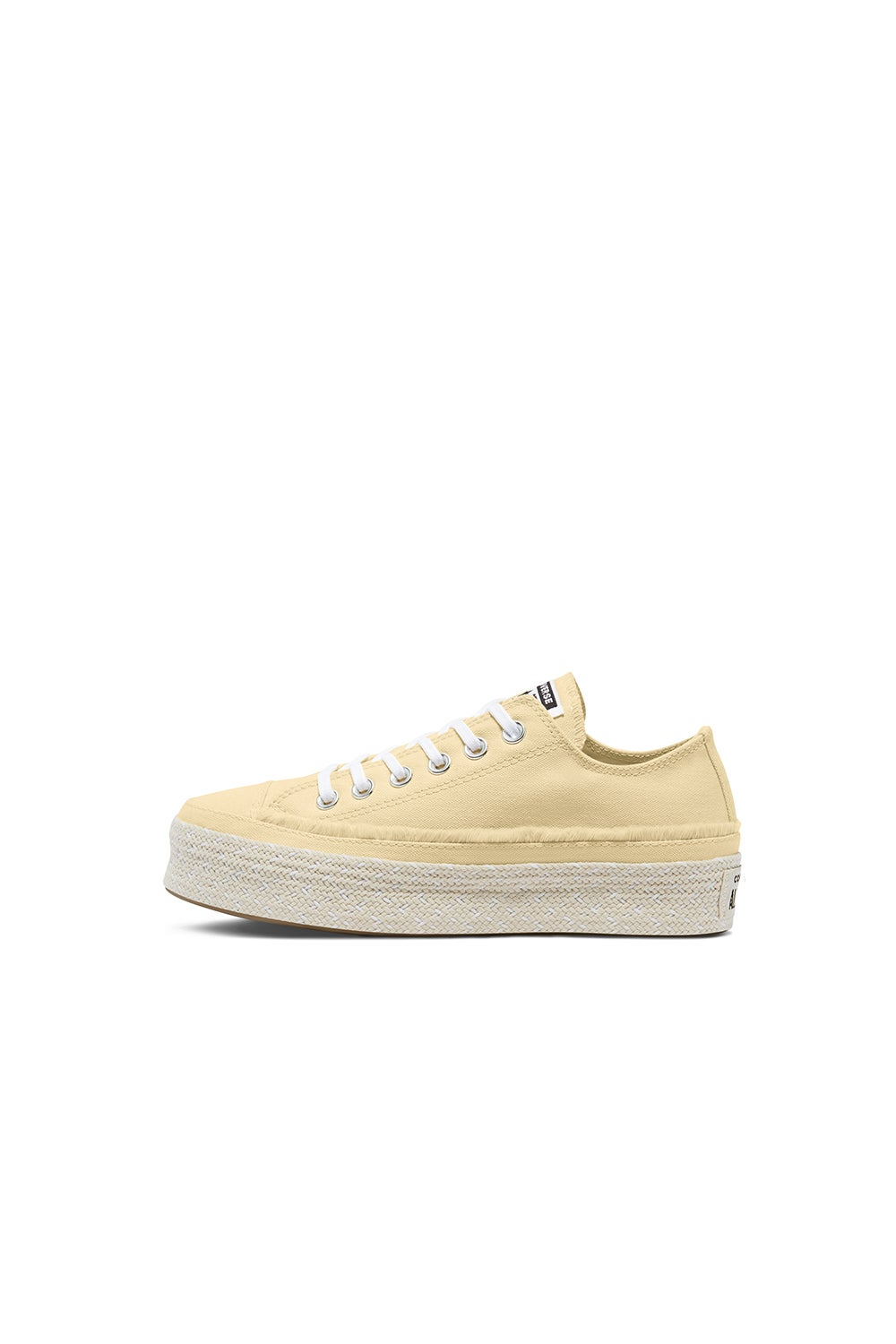 Converse Chuck Taylor All Star Espadrille Playform Low Top Banana Cake/White/Natural Ivory