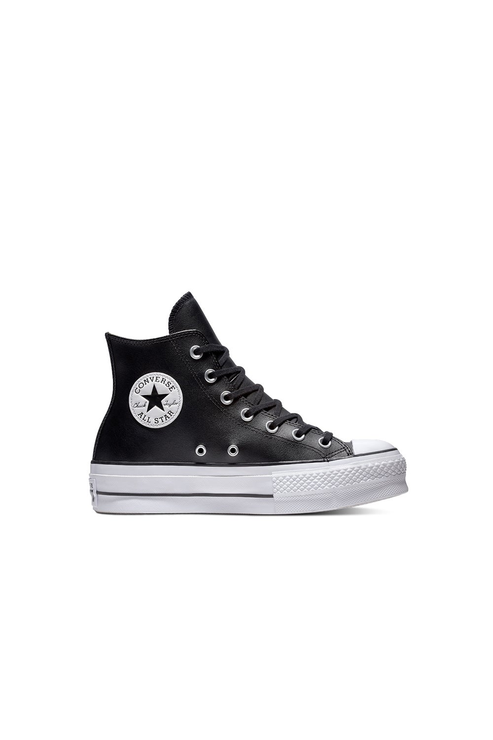 Converse Chuck Taylor All Star Lift Clean Leather High Top Black/Black/White