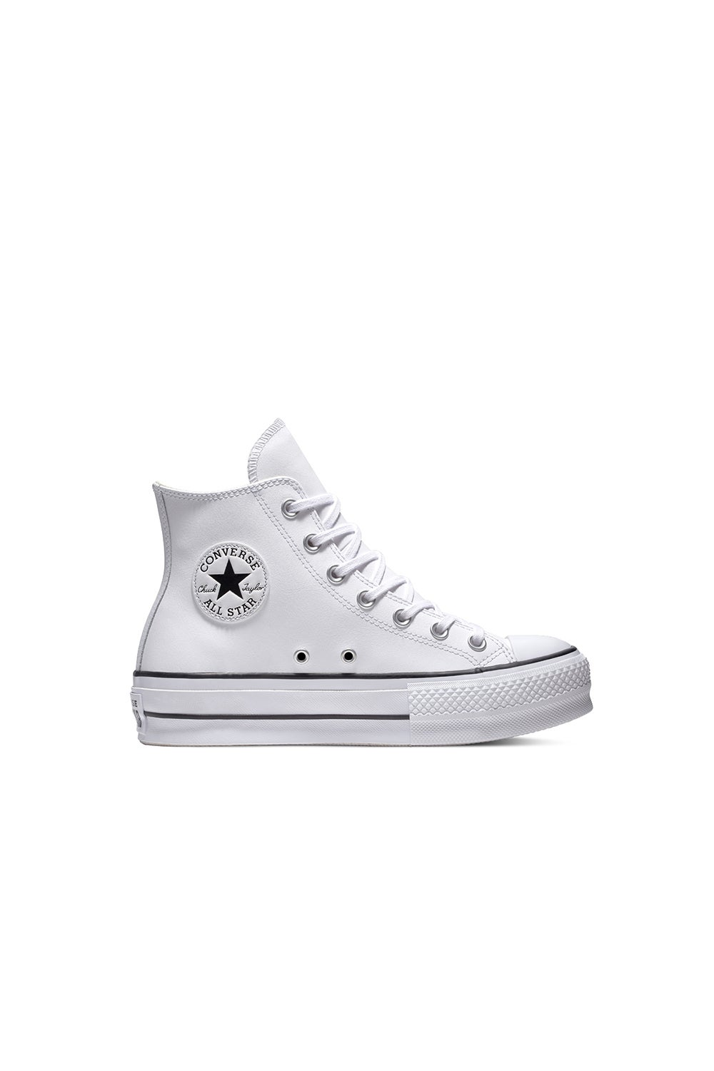 Converse Chuck Taylor All Star Lift Clean Leather High Top White/Black/White