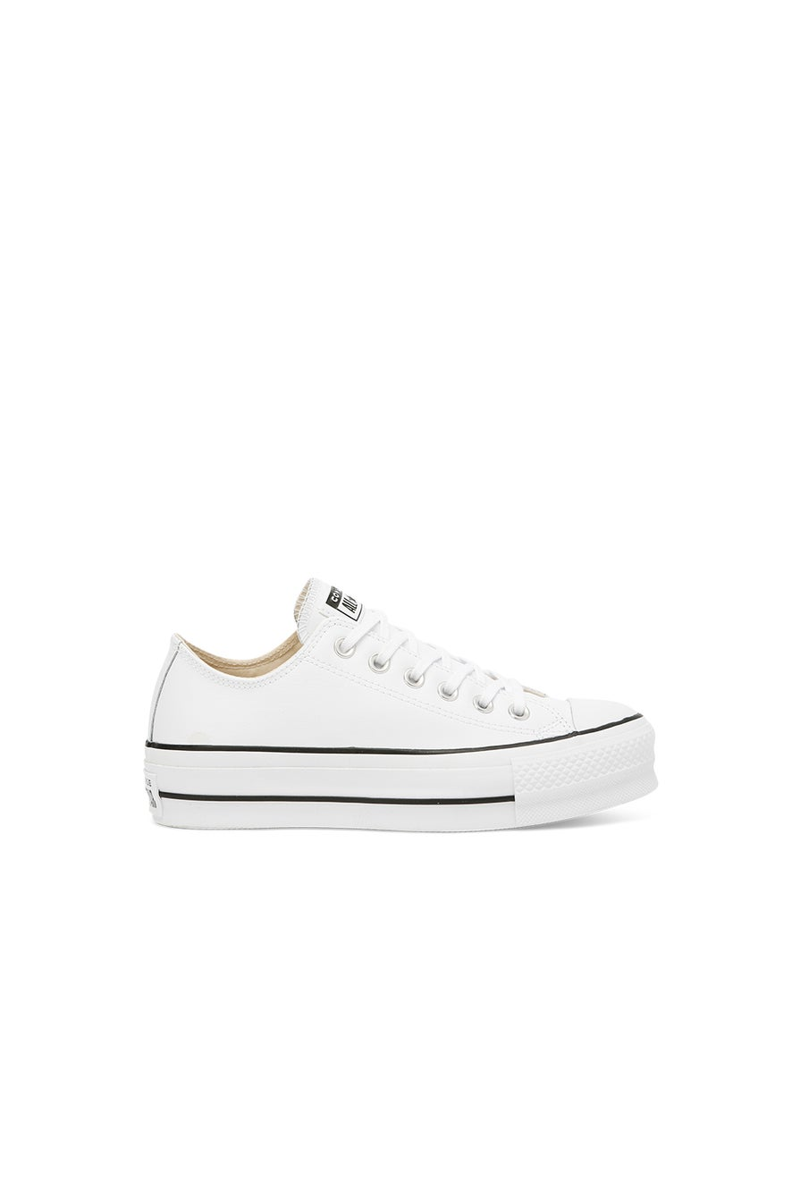 Converse Chuck Taylor All Star Lift Clean Leather Low Top White