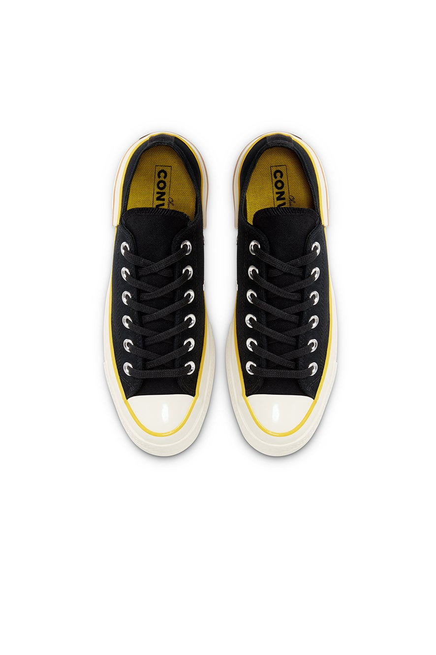 Converse Chuck Taylor Hacked Heel Low Black/Speed Yellow