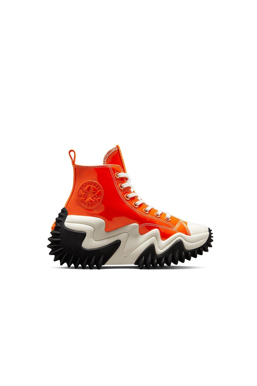 Converse Run Star Motion CX Patent Leather Platform Bold Mandarin/Black/White