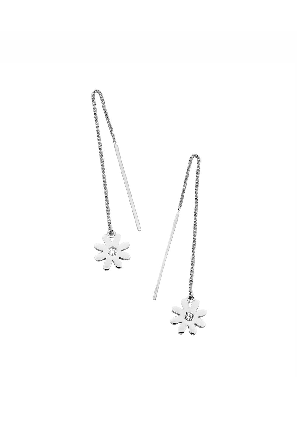 Daisy Thread Earrings Silver