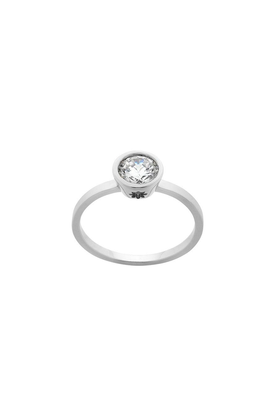 Diamond Brilliant Ring, 9ct White Gold, .75ct Diamond