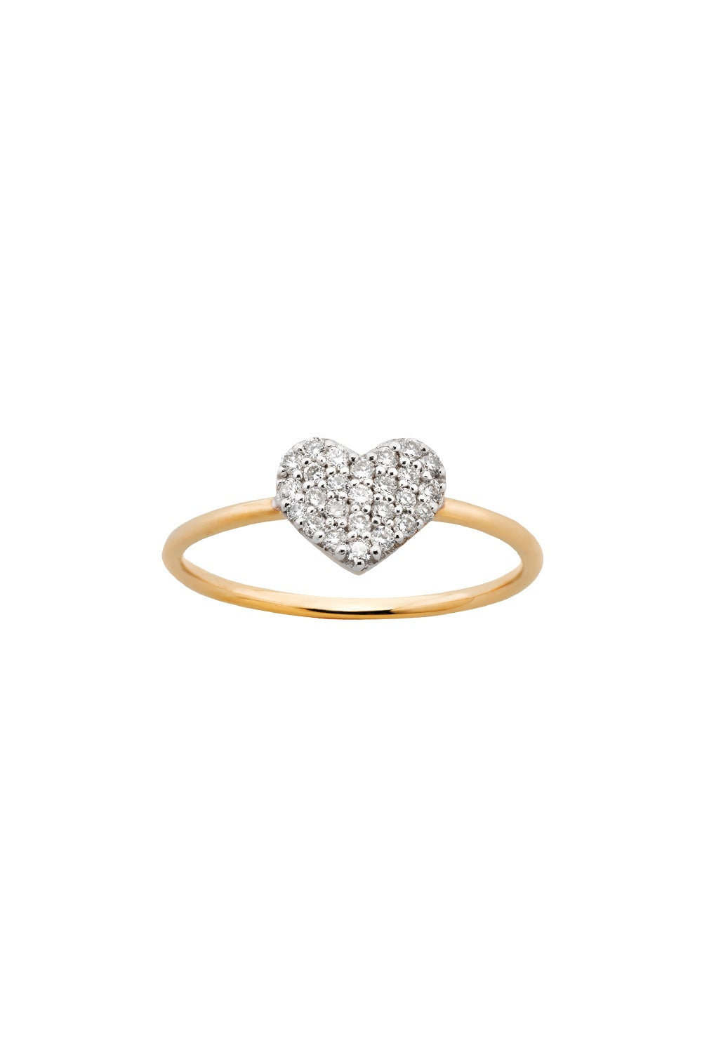 Diamond Heart Ring, Gold, .19ct Diamond