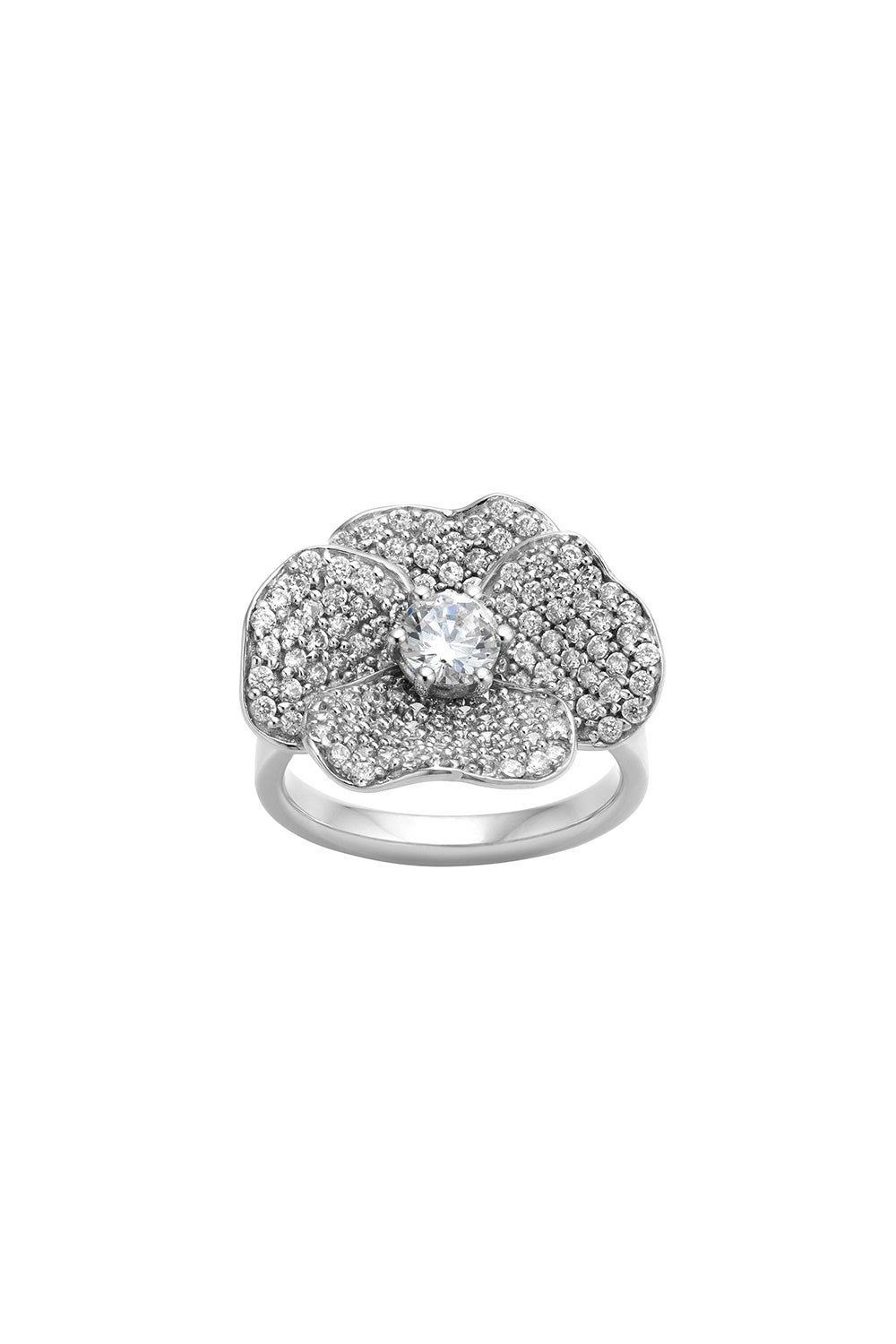 Diamond Pansy Ring, 9ct White Gold, 1.58ct Diamond