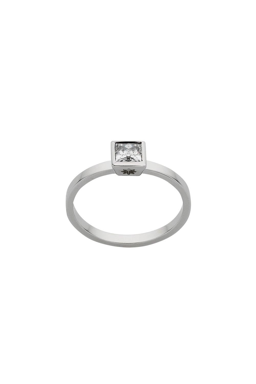 Diamond Princess Ring, 9ct White Gold,  .40ct Diamond