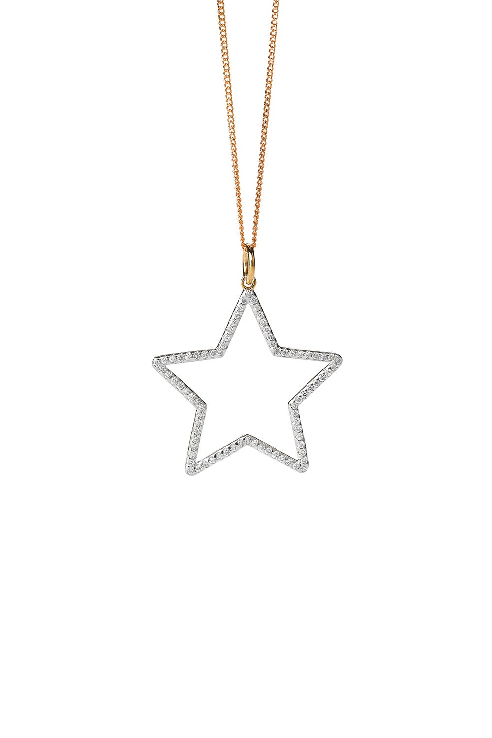 Diamond Star Necklace, Gold, .44ct Diamond